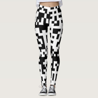 Big QR Codes Funky Squares leggings reads call me