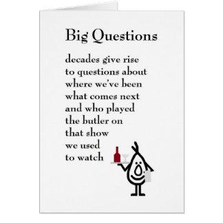 Big Questions - a funny seventieth birthday poem Card