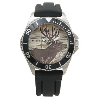 Big Rack Whitetail Buck Wristwatch