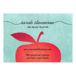 Big Red Apple Chalkboard School Teacher Linen Look Pack Of Chubby Business Cards