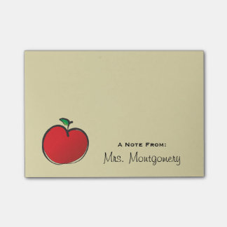 Big Red Apple Personalized Post-it Notes