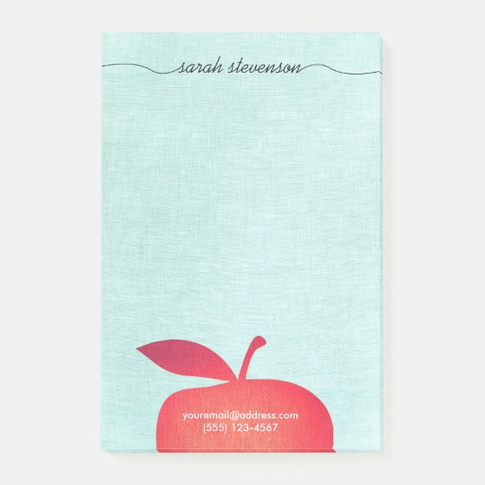 Big Red Apple School Teacher Education Post-it® Notes