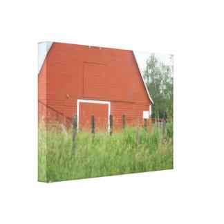 Big Red Barn Canvas Print