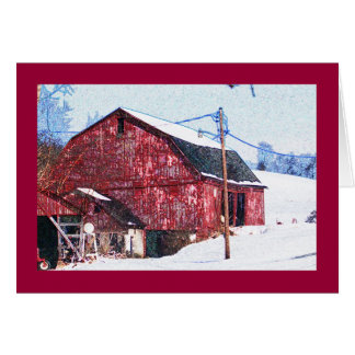 Big Red Barn on the National Pike Card