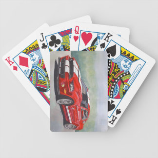 Big Red Bicycle Playing Cards
