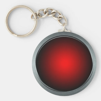 Big Red Button Keychain