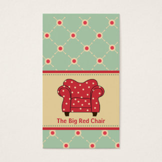 Big Red Chair Business Cards