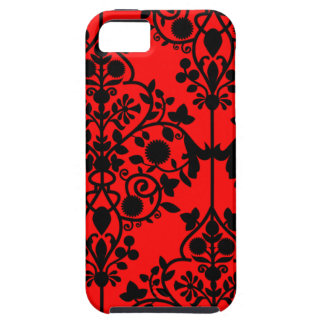 Big Red Damask iPhone 5 case