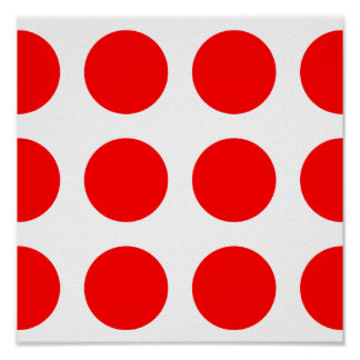 Big Red Dots Poster