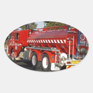 Big_Red_Fire_Engine,_ Oval Sticker