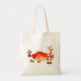 Big Red Fish Canvas Bags
