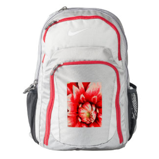 Big red flower backpack
