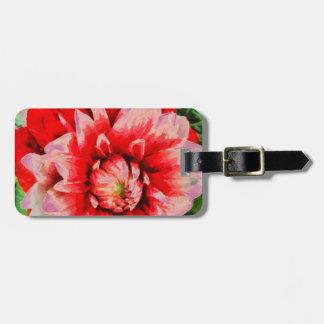 Big red flower bag tag