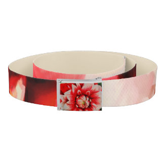 Big red flower belt