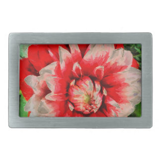 Big red flower belt buckles
