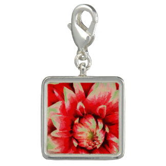 Big red flower charm