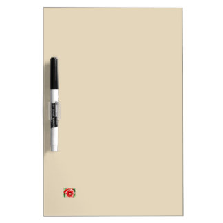 Big red flower dry erase board
