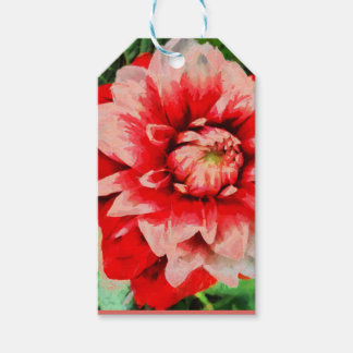 Big red flower gift tags