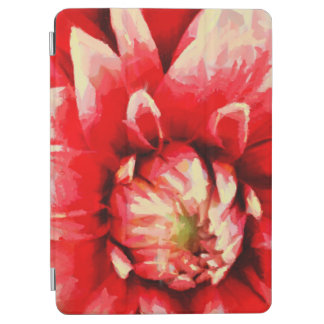 Big red flower iPad air cover