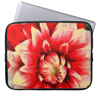 Big red flower laptop sleeve