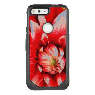 Big red flower OtterBox commuter google pixel case