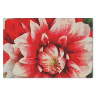 Big red flower tissue paper