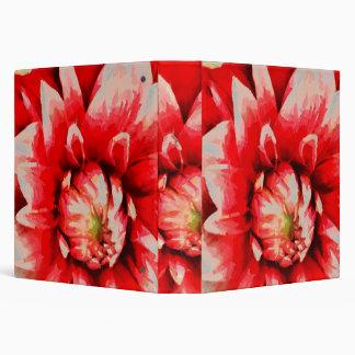 Big red flower vinyl binder