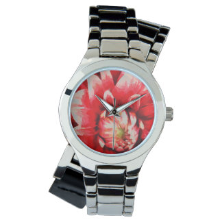Big red flower watch
