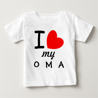 Big Red Heart I Love My OMA V06 Baby T-Shirt