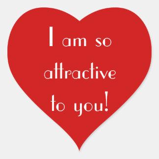 Big Red Heart Love Crush_So Attractive Heart Sticker