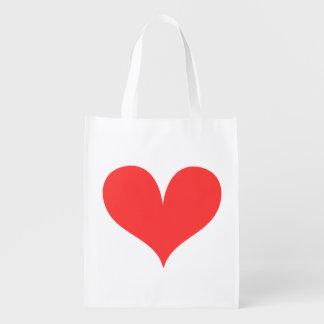 Big Red Heart Reusable Grocery Bag