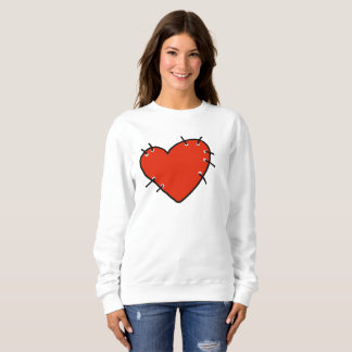 Big Red Heart Women's Basic Sweatshirt