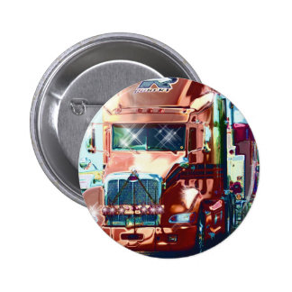 Big Red Heavy Truck for Truckers & Truck-Lovers 2 Inch Round Button