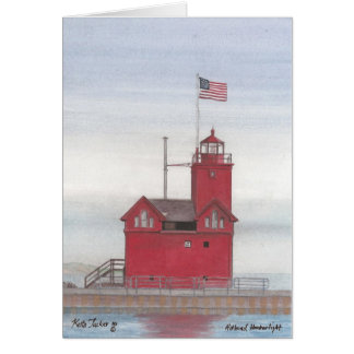 Big Red Lighthouse, Holland, Michigan Card