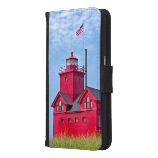 Big Red Lighthouse in Michigan Samsung Galaxy S6 Wallet Case