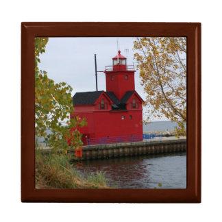 Big Red Lighthouse Keepsake Boxes