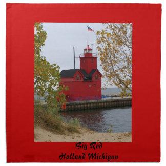 Big Red Lighthouse Napkin