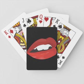 Big Red Lips Mwah Poker Playing Cards