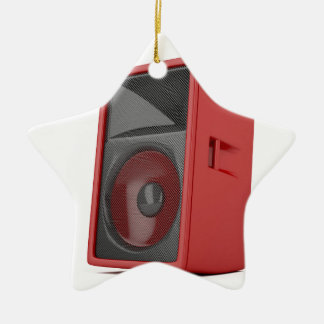Big red loudspeaker ceramic ornament