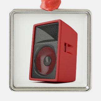 Big red loudspeaker metal ornament