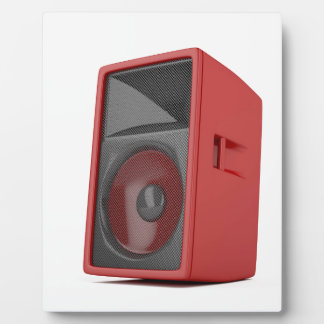 Big red loudspeaker plaque