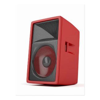 Big red loudspeaker postcard