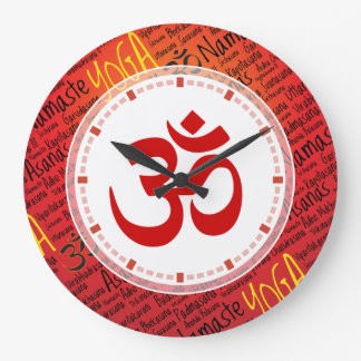 Big Red Om - Forget What Time it Is Yoga Large Clock