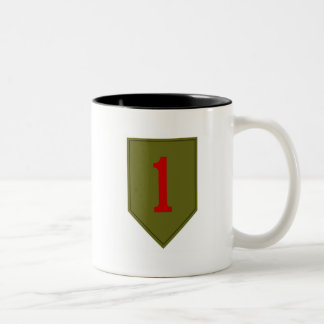 Big Red One, 1st ID Patch Two-Tone Coffee Mug