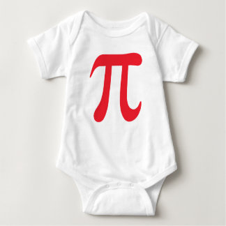 Big red pi symbol infant creeper