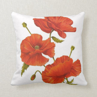 Big Red Poppy Cushion