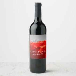 Big red rose wine bottle labels
