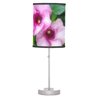 BIG RED ROUND FLOWERS TABLE LAMP