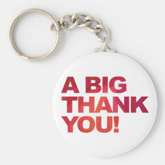 Big Red Thank You Keychain