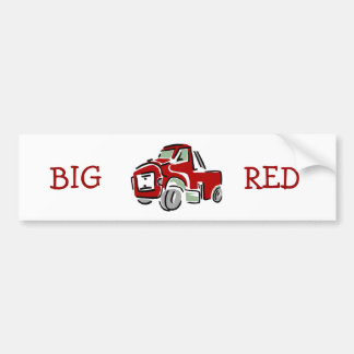 Big Red Truck Bumper Sticker